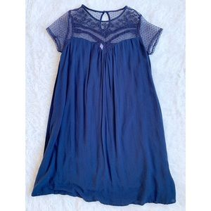 Blue Illusion A-line Comfy Dress Size Medium